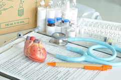Diagnosis of human heart. In laboratory stock images