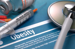 Diagnosis - Obesity. Medical Concept Stock Photos