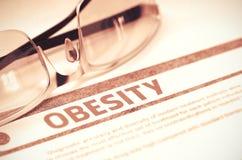 Diagnosis - Obesity. Medicine Concept. 3D Illustration. Royalty Free Stock Photo