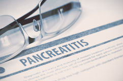 Diagnosis - Pancreatitis. Medicine Concept. 3D Illustration. Royalty Free Stock Photography
