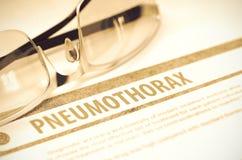Diagnosis - Pneumothorax. Medicine Concept. 3D Illustration. Stock Photos