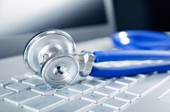 Diagnosis and repair of computers Stock Image