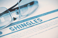 Diagnosis - Shingles. Medical Concept. 3D Illustration. Stock Photos