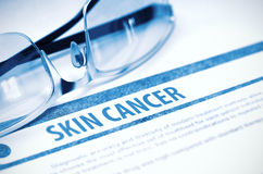 Diagnosis - Skin Cancer. Medicine Concept. 3D Illustration. Stock Images