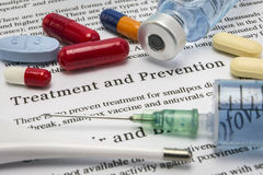 Diagnosis - Treatment and prevention. Medical Report with Compos stock images