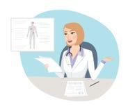 Diagnostic étrange - concept médical Photos stock