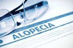 Diagnostic - alopécie stéthoscope réglé d'argent de médecine de mensonges de concept illustration 3D Photos stock