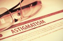 Diagnostic - astigmatisme stéthoscope réglé d'argent de médecine de mensonges de concept illustration 3D photographie stock libre de droits