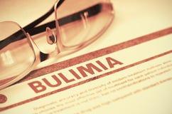 Diagnostic - boulimie stéthoscope réglé d'argent de médecine de mensonges de concept illustration 3D photos libres de droits