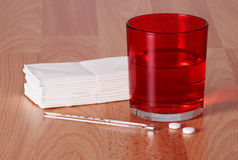 Diagnostic de grippe et demande de règlement - concept Photo libre de droits