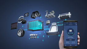 Diagnostic de voiture, application de gestion utilisant le téléphone mobile et intelligent, électronique, voiture d'écho de batte banque de vidéos