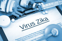 Diagnostic de Zika de virus Concept MÉDICAL Photos stock