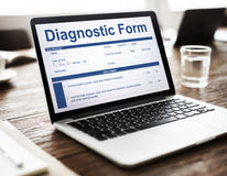 Diagnostic Form Health Hospital Symptoms Result Concept. Diagnostic Form Health Hospital Symptoms Result royalty free stock photography