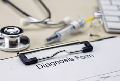Diagnostic form in hospital. Conceptual image stock images