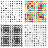 100 diagnostic icons set vector variant. 100 diagnostic icons set vector in 4 variant for any web design isolated on white Stock Photography