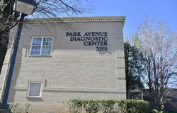 Park Avenue Diagnostic Center, Memphis, TN. Diagnostic Imaging/Routine Radiography - Uses a small amount of radiation to create X-ray images of bones and organs royalty free stock photos