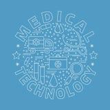 Diagnostic médical, concept de construction graphique de contrôle Photos libres de droits