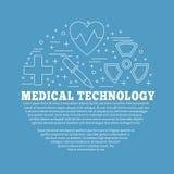 Diagnostic médical, concept de construction graphique de contrôle illustration libre de droits