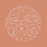 Diagnostic médical, concept de construction graphique de contrôle Images libres de droits