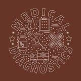 Diagnostic médical, concept de construction graphique de contrôle Image libre de droits