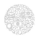 Diagnostic médical, concept de construction graphique de contrôle Photographie stock