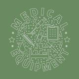 Diagnostic médical, concept de construction graphique de contrôle illustration de vecteur