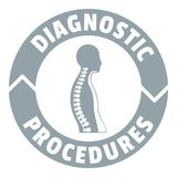 Diagnostic procedures logo, simple gray style Royalty Free Stock Photography