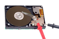 Diagnostic and repair magnetic computer hard disk Stock Image