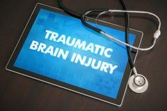 Diagnostic traumatique de lésion cérébrale (désordre neurologique) médical image libre de droits