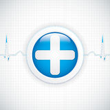 Diagnostics button Stock Photography