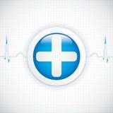 Diagnostics button Stock Photography