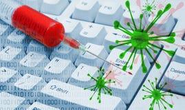 Diagnostics d'un ordinateur Images libres de droits