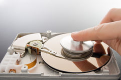 Diagnostics of data. Hard disk royalty free stock image