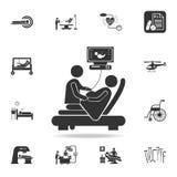 Diagnostics de grossesse, icône d'illustration d'échographie Ensemble détaillé d'illustration d'élément de médecine Conception gr illustration libre de droits