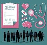 Diagnostique el concepto médico de la atención sanitaria del hospital de la enfermedad imagenes de archivo