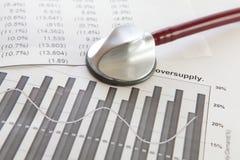 Diagnostiquez la situation financière d'une compagnie photo libre de droits