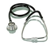 Diagnostyczny narzędzie - fonendoskop odizolowywający na bielu Obrazy Royalty Free