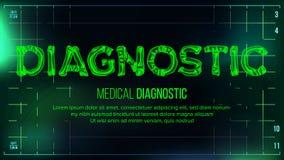 Diagnostyczny sztandaru wektor mapy tła oko medical optometrist Przejrzystego Roentgen radiologiczny tekst Z kościami Radiologii  royalty ilustracja