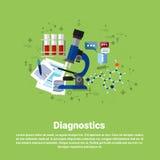 Diagnostyk opieki zdrowotnej Medycznej Podaniowej medycyny sieci Online sztandar ilustracji