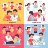 Diagnoz Illnesses Konceptualny skład ilustracji