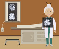 Diagnoza móżdżkowy obrazek Obrazy Royalty Free