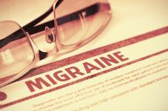 Diagnoza - migrena MEDYCZNY pojęcie ilustracja 3 d obrazy royalty free
