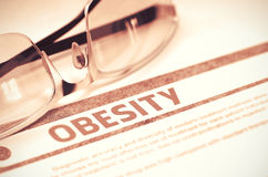 Diagnoza - otyłość pojęcie kłama medycyny pieniądze ustalonego stetoskop ilustracja 3 d Zdjęcie Royalty Free