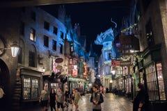 Diagon Alley at Universal Studios Florida. Orlando, Florida: November 30, 2017: The Wizarding World of Harry Potter – Diagon Alley at Universal Studios Stock Photography