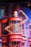 Diagon Alleyfilmuppsättning på Warner Studio, danandet av Harry Potter i London, UK royaltyfria foton
