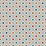 Diagonaal geruit naadloos patroon Herhaalde diamant sier abstracte achtergrond De moderne textuur van de stijloppervlakte Royalty-vrije Stock Fotografie
