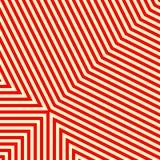 Diagonaal gestreept rood wit patroon Abstract herhaal de achtergrond van de rechte lijnentextuur Royalty-vrije Stock Afbeelding