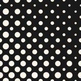 Diagonaal halftone punten vector naadloos patroon Cirkelstextuur Stock Fotografie