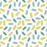Diagonaal patroon met gestileerd potlood Stock Fotografie