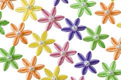 Diagonaal patroon van appliquebloemen Royalty-vrije Stock Afbeeldingen